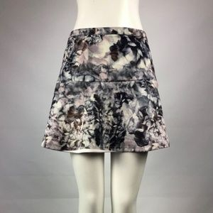 Dex Grey Flower Skirt Size M